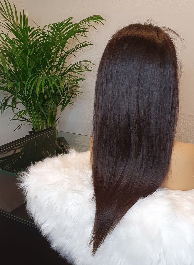 """HD Frontal Wig Straight 18"""" Raw Indian Hair"""
