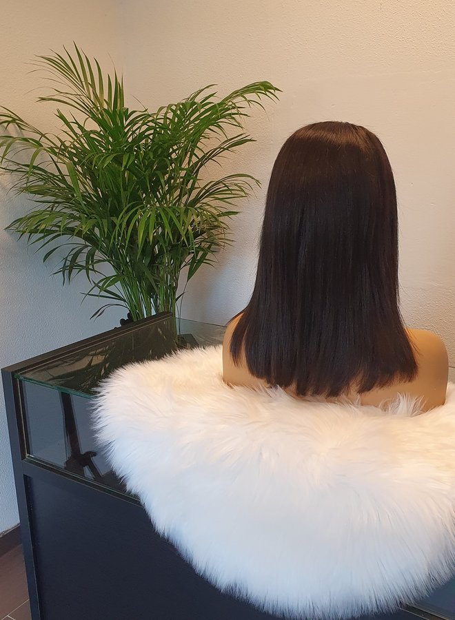 """Closure Wig + Bangs 10"""" Raw Hair"""