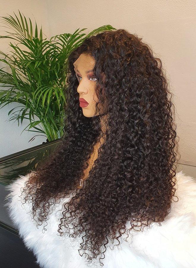 "Frontal Wig 24"" Raw* Hair Deep Curly"