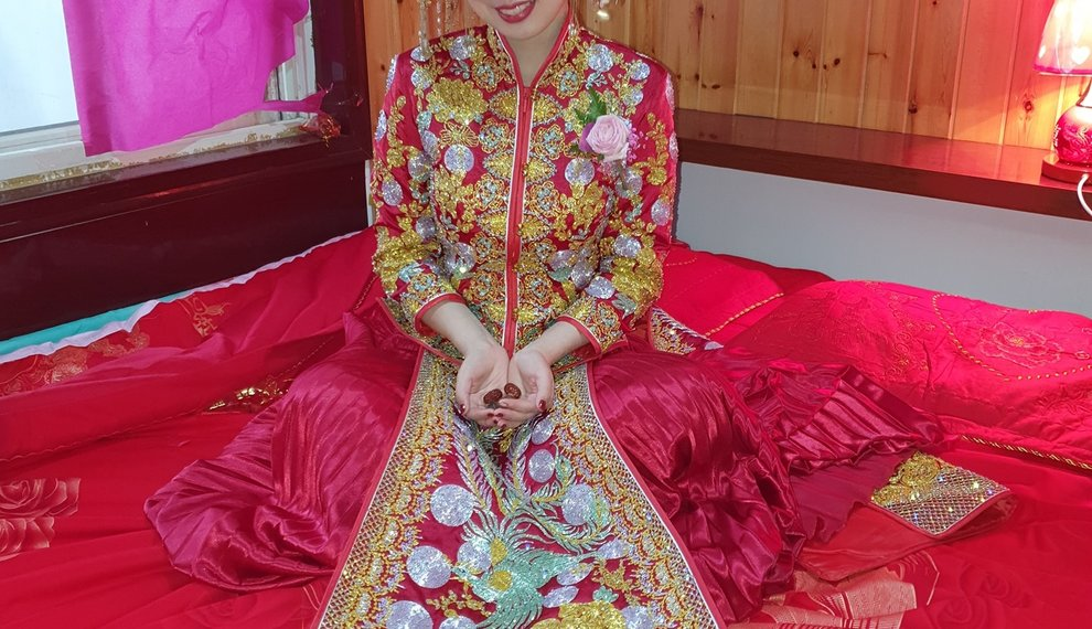 Traditionele bruiloft in China