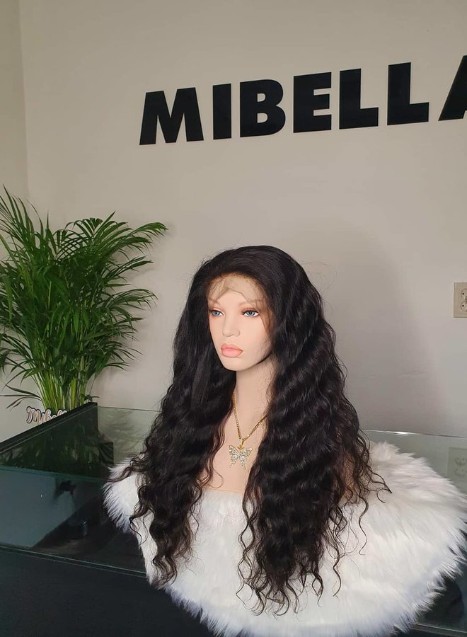 """Frontal Wig 22"""" Raw* Indian Loose Wave"""