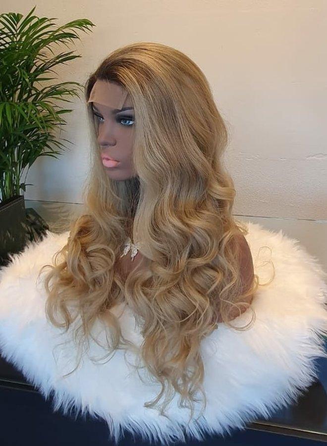 "Closure Wig 24"" Ombre Blonde"