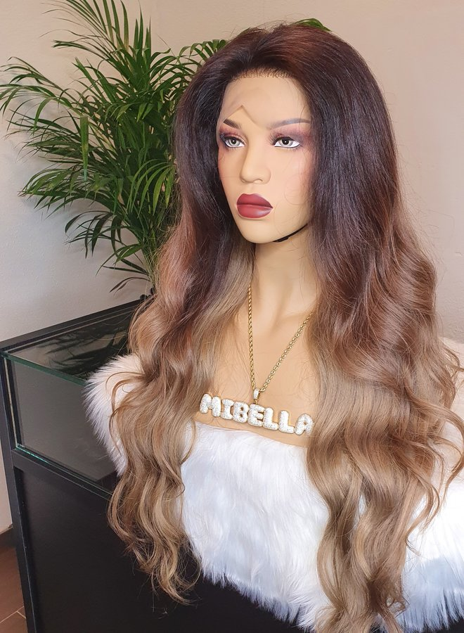 """Frontal Wig 26"""" Ombre Brown Blonde"""