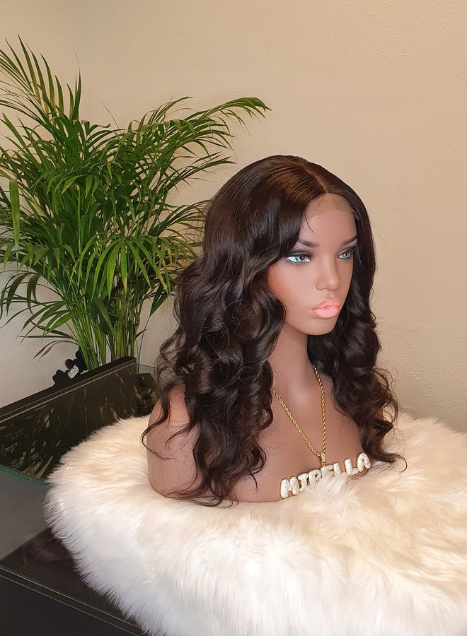 """Closure Wig 16"""" Body Wave Raw* Hair"""