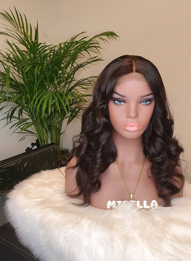 "Closure Wig 16"" Body Wave Raw* Indian Hair"