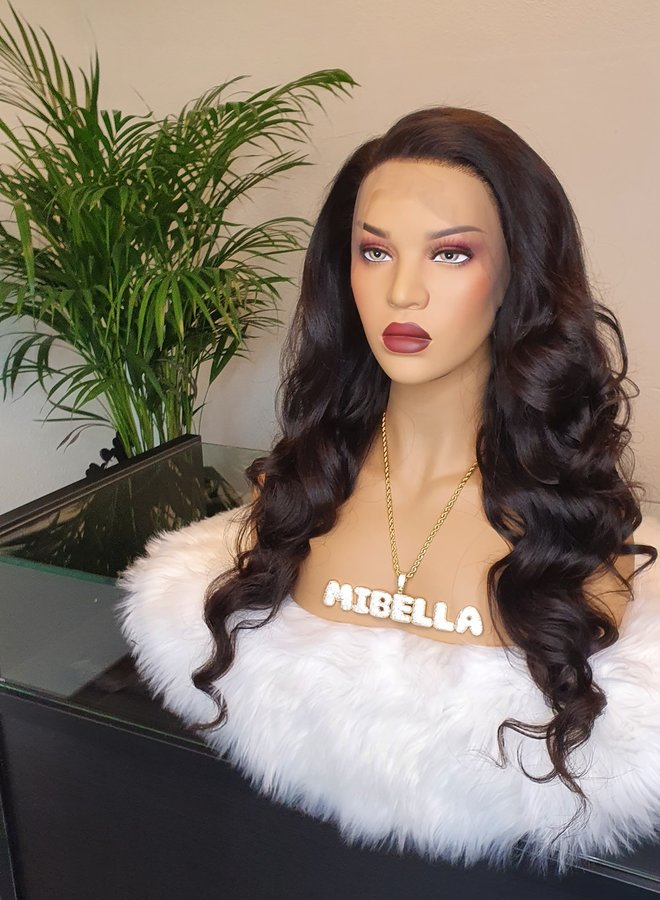 """Frontal Wig Body Wave 26"""" Raw* Indian Hair Capsize Small"""