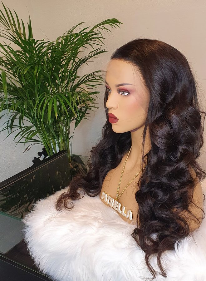 "Frontal Wig Body Wave 26"" Raw* Hair Capsize Small"