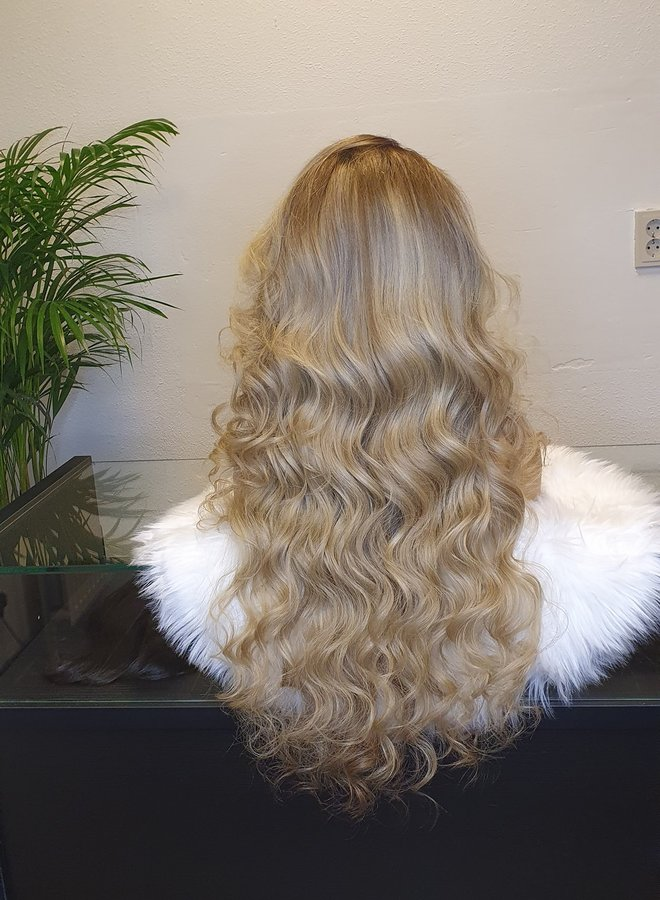 """Frontal Wig 26"""" Raw* Indian Body Wave Ombre Ash Blonde"""