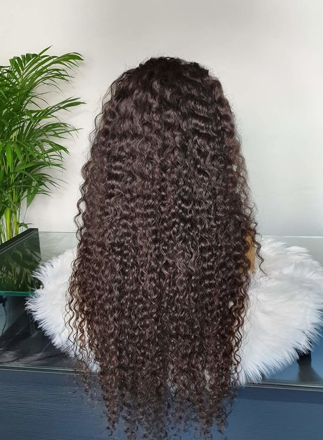 """Frontal Wig 32"""" Raw* Hair Caribbean Curly"""