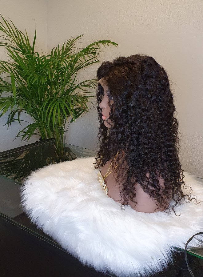 "Closure Wig Caribbean Curly 18"""