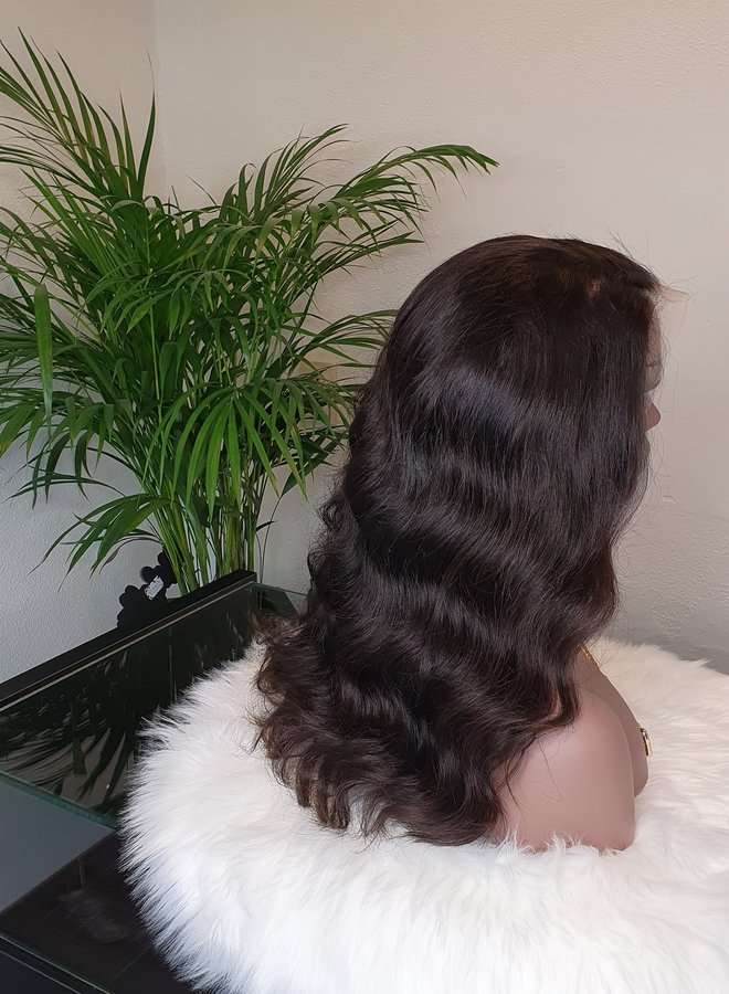 """Frontal Wig Body Wave 16"""" Transparent Lace"""