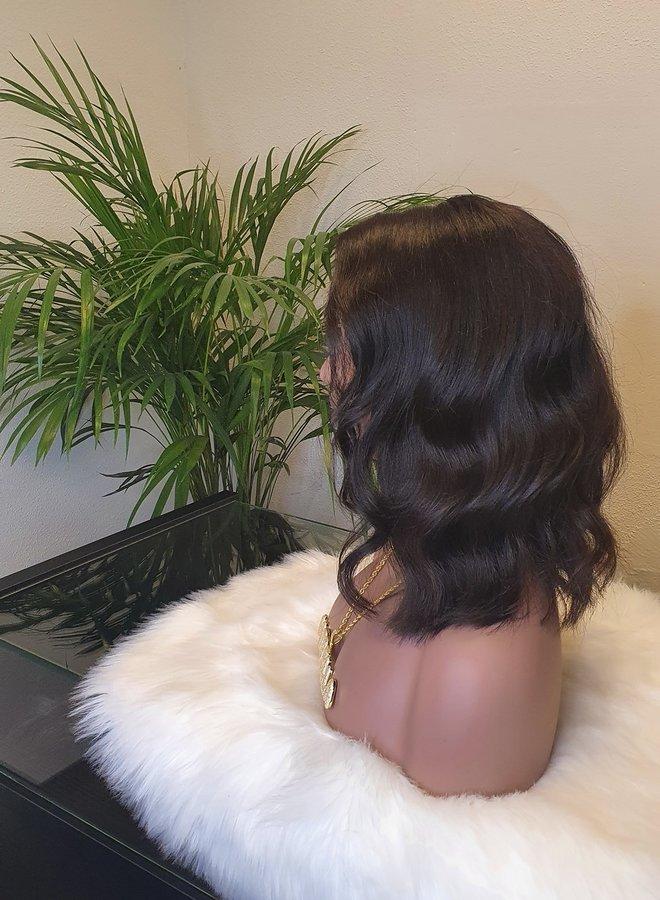 "Closure Wig Body Wave Bob 10"" Raw* Indian Hair"