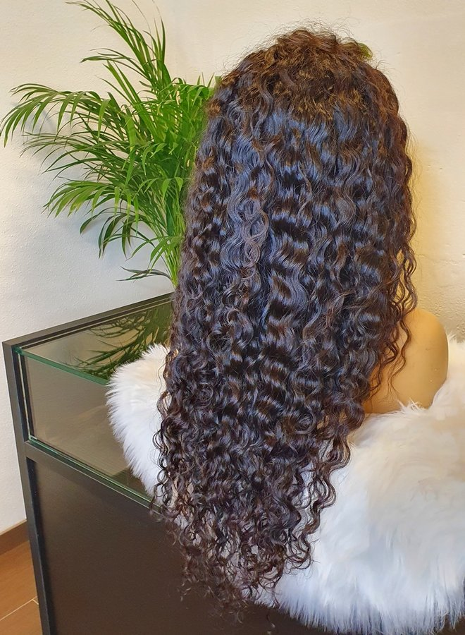 """Frontal Wig 26"""" Raw* Hair Moroccan Curly"""