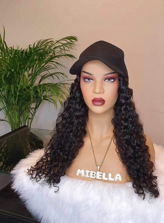 """Hat Wig Caribbean Curly 22"""""""