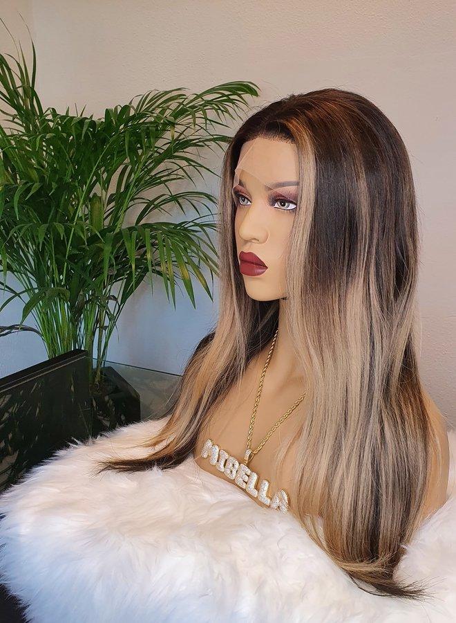 """Frontal Wig Ciara Blonde 16"""" Raw Hair"""