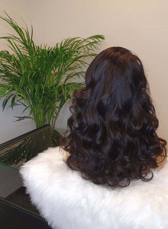 """Closure Wig Body Wave Raw* Indian Hair 18"""" Capsize Small"""