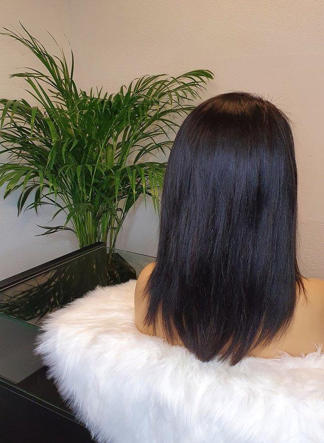 "Frontal Wig Bob 12"" Raw Indian Hair"