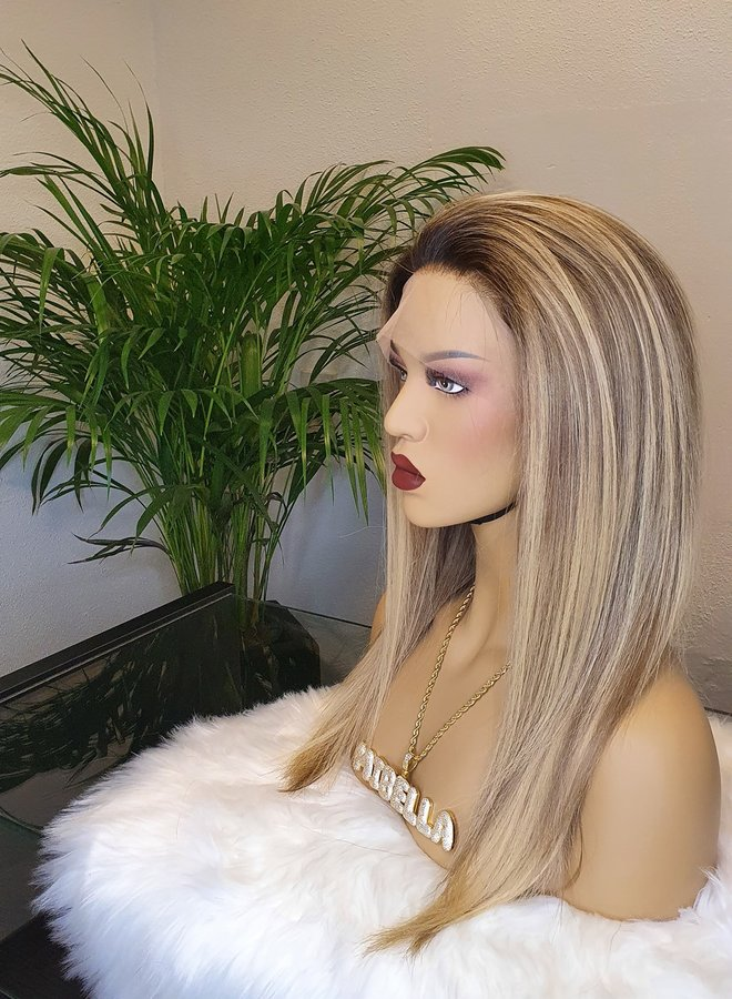 "Frontal Wig Blonde 16"" Raw Hair 350 gram"