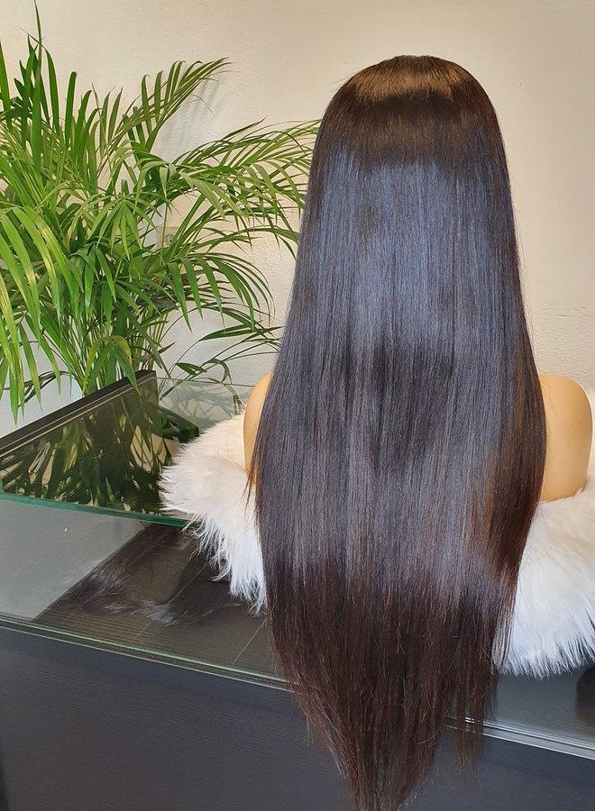 "HD Closure wig 24"" Raw Indian Straight"
