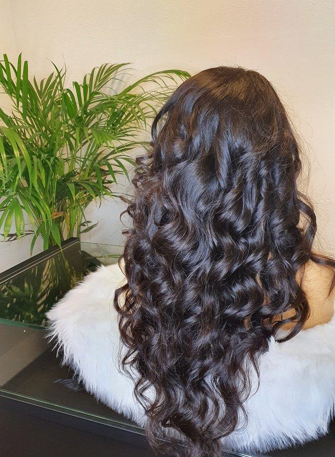 """HD closure wig raw indian body wave 26"""" 425 gram"""