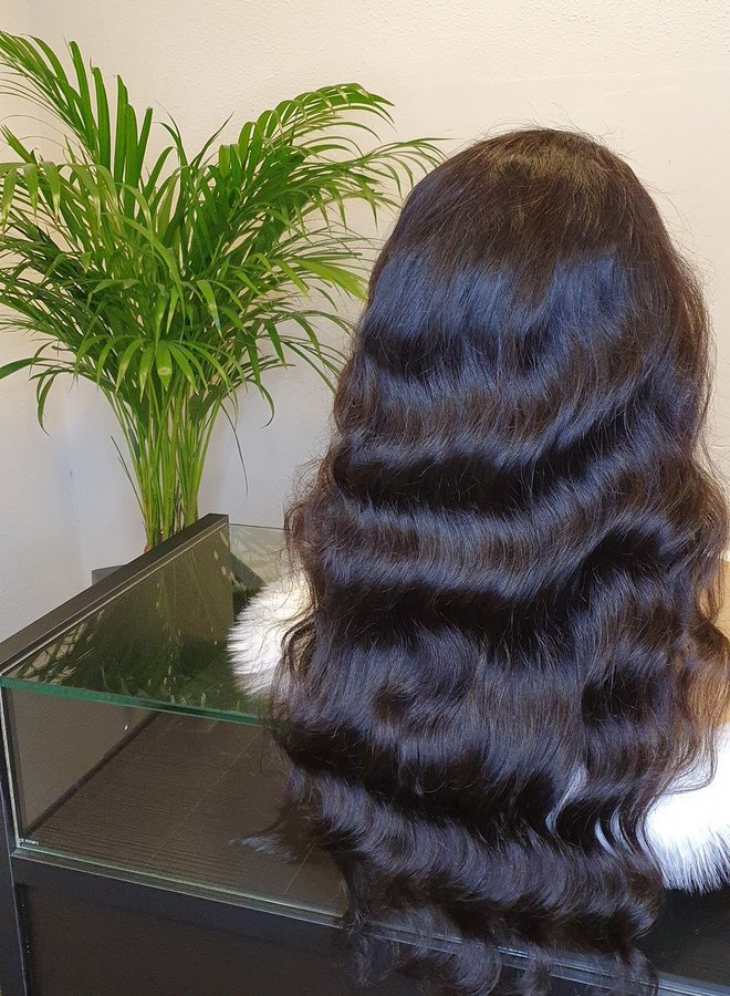 """Frontal Wig Body Wave 24"""" Raw* Indian Hair"""