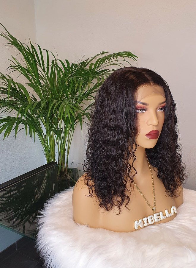 """Frontal Wig Remy Hair Moroccan Curly 14"""""""