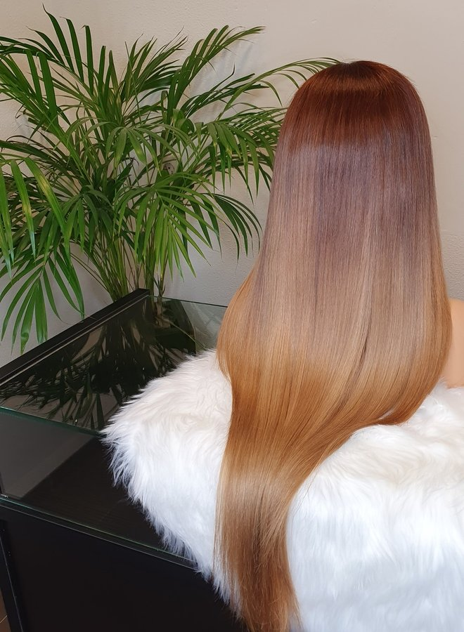 Frontal Wig Auburn Ombre 26 inch