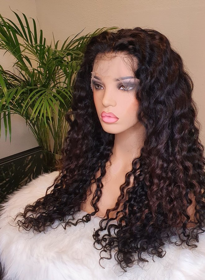 Frontal Wig Caribbean Curly Remy Hair