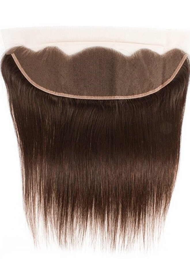 Brown Raw Vietnamese 13x4 Frontal Straight   Thin Transparent Lace