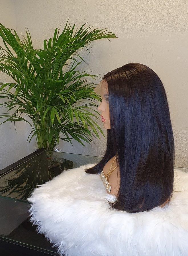 "Frontal Wig 16"" Raw Vietnamese Hair - Three part"