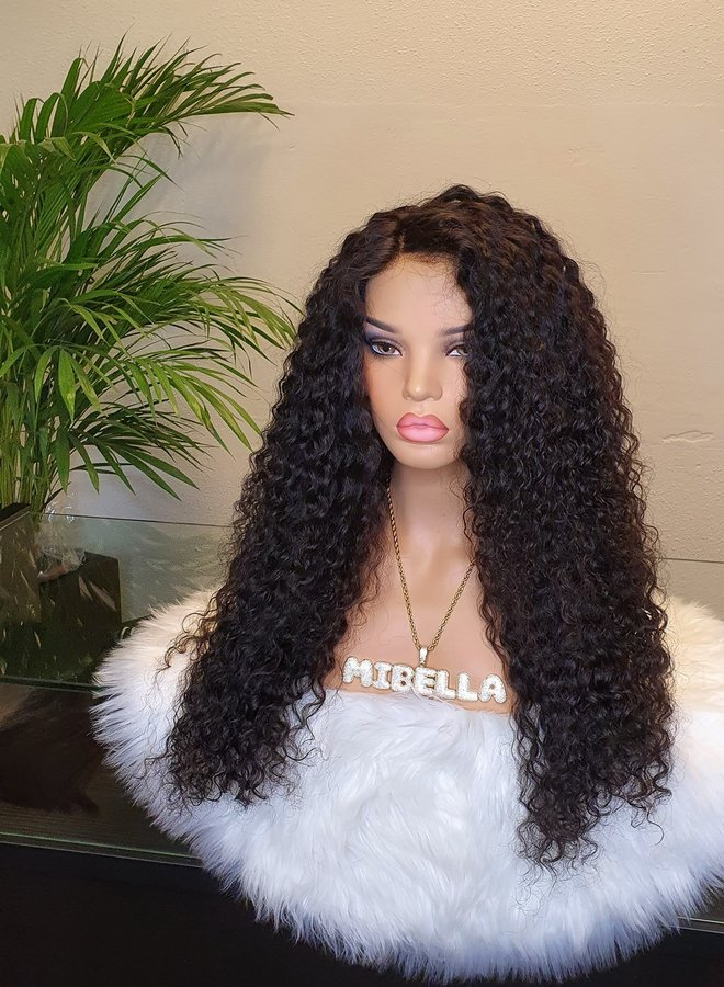 """HD Closure Wig Curly Remy Hair 26"""""""