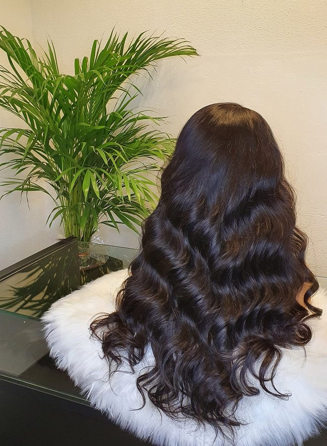 HD Frontal Wig Body Wave Remy Hair 22""
