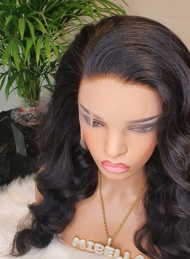 HD Frontal Wig Body Wave Raw* Indian Hair 22""