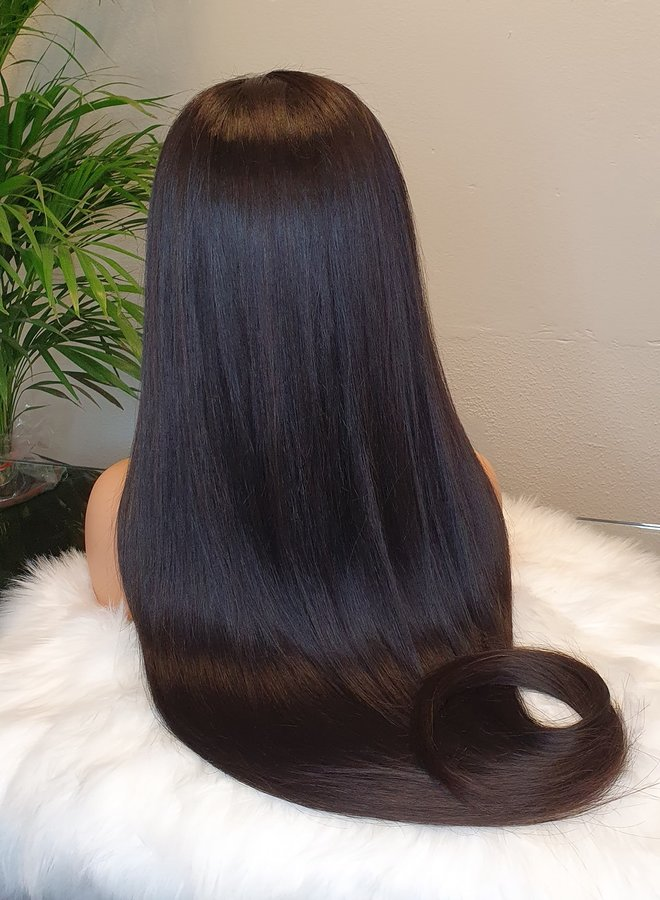 """HD Frontal Wig Raw Indian Straight 30"""""""