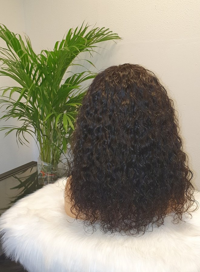 Closure Wig Raw* Indian Moroccan Curly