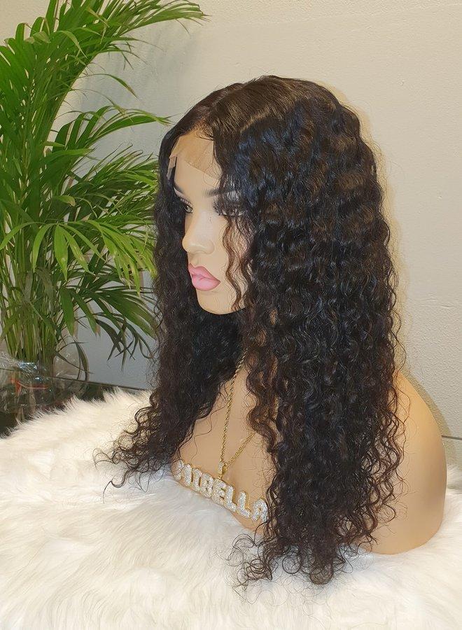 "Closure Wig Raw* Indian Caribbean Curly 18"""