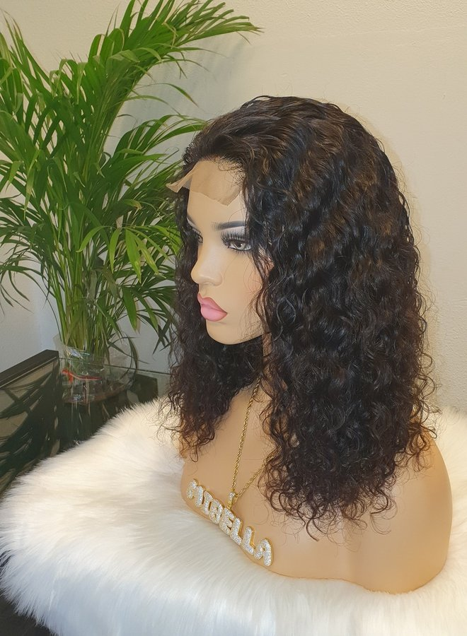 """Closure Wig Raw* Indian Moroccan Curly 14"""""""