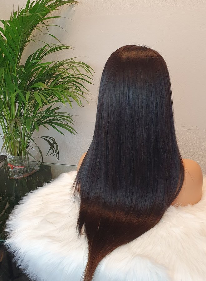 """Transparante Frontal Wig Straight 20"""" Raw Indian Straight"""