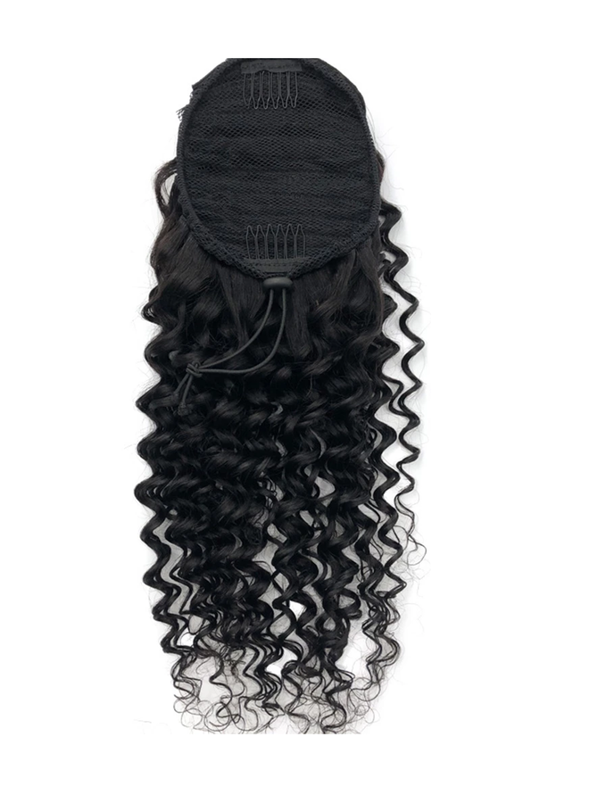 Raw* Indian Caribbean Curly Ponytail