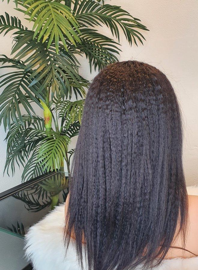 "U Part Wig Kinky Straight 14"" Raw* Indian Hair"