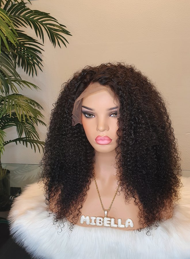 """Frontal Wig Raw* Indian Kinky Curly 18"""""""