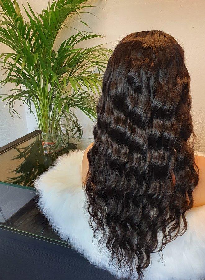 "U Part Wig Loose Wave Raw* Indian Hair 18"""
