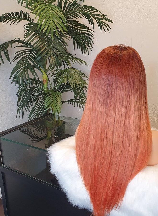 "Frontal Wig 20"" Burned Orange Raw Hair"