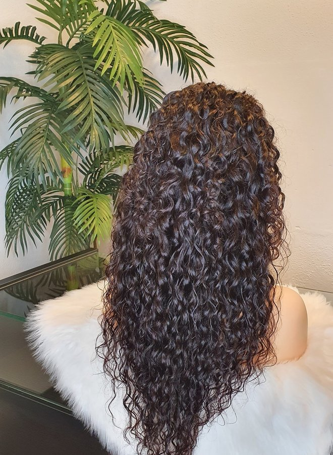 """5x5 Closure Wig Raw*  Indian Moroccan Curly 22"""" Transparent Lace"""