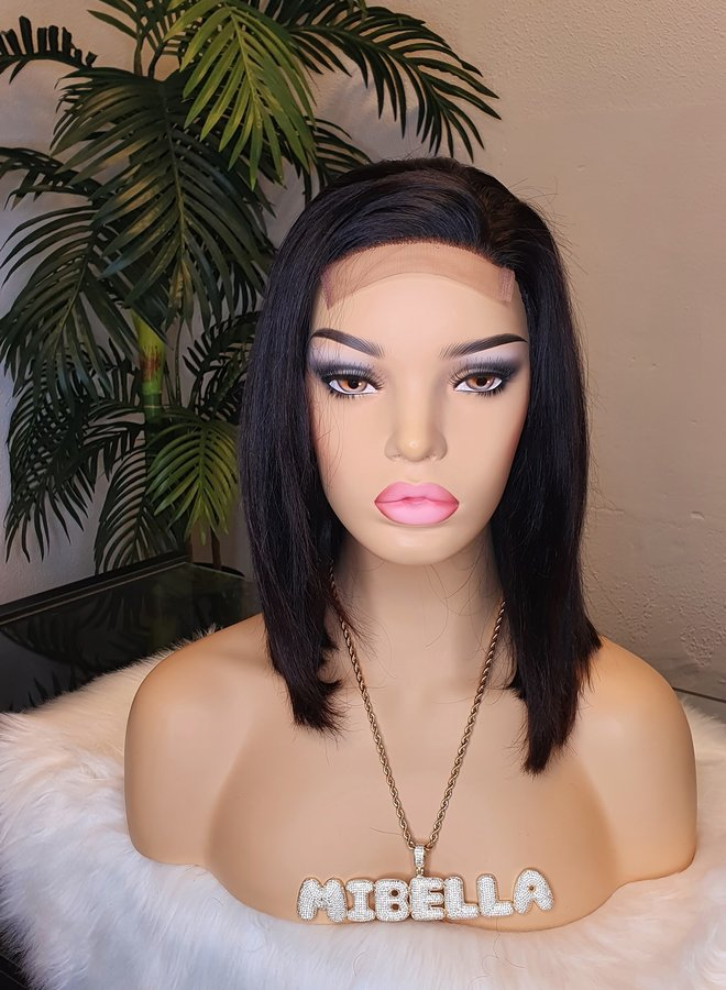 "Closure Wig Bob Remy Hair 10"""