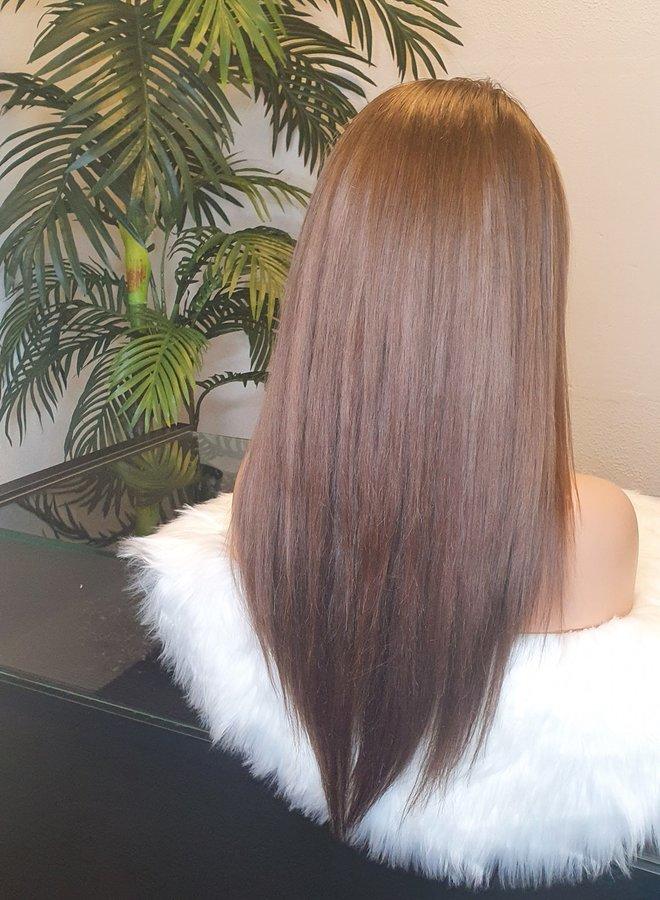 "Frontal Wig 22"" Ash Brown Raw Indian Hair"
