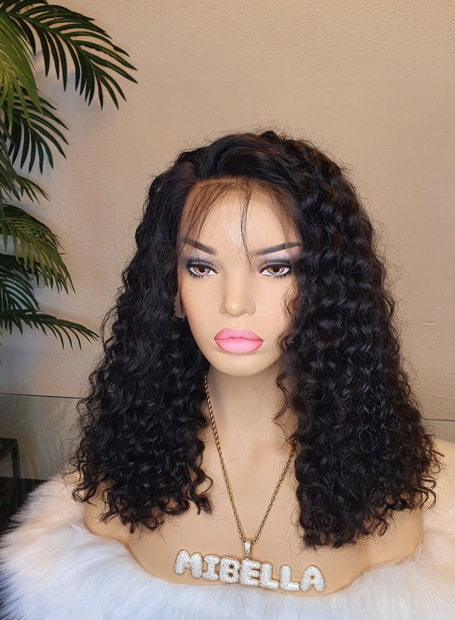 """Frontal Wig Curly Remy Hair 14"""" 350 gram"""