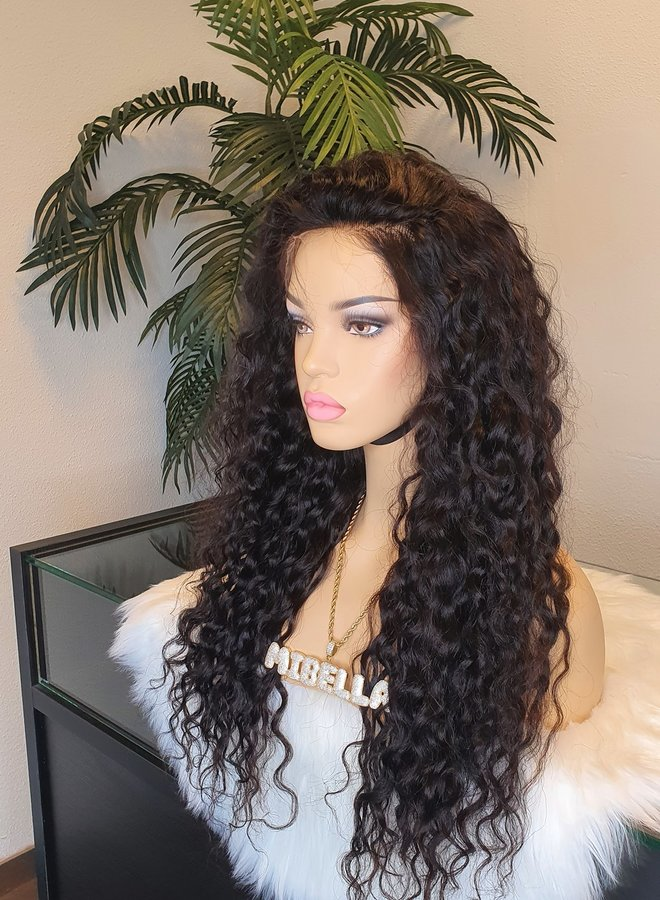 """HD Frontal Wig Curly Remy Hair 24"""""""