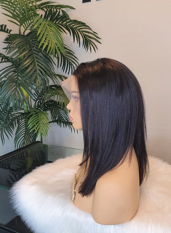 """Raw Indian Straight Frontal Wig 14""""