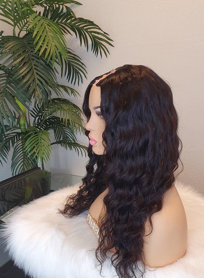"Loose Wave U Part Wig 16"" Raw* Indian Hair"
